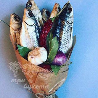 Букет с рыбой и овощами