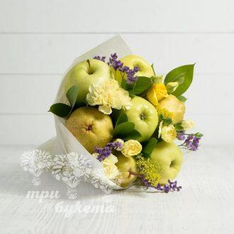 buket-iz-fruktov-i-kustovyh-gvozdik